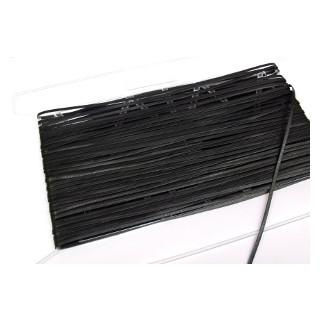Glattleder Imitat Band flach 3 mm schwarz