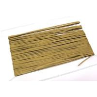 Glattleder Imitat Band flach 3 mm beige