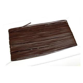 Glattleder Imitat Band flach 3 mm dkl.braun