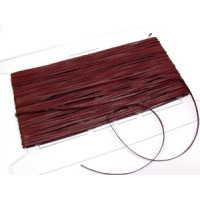 Glattleder Imitat Band flach 3 mm bordeaux