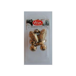 Ornament-Perlen, gold Mischung 3