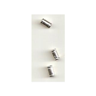Metallverzierteil Walze 6 x 3 mm echt versilbert