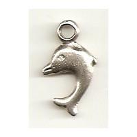 Metallverzierteil Delfin, altsilber