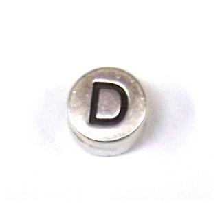 """Metall-Perle """"D"""""""