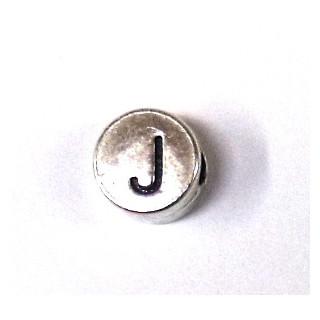 """Metall-Perle """"J"""""""
