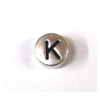 """Metall-Perle """"K"""""""
