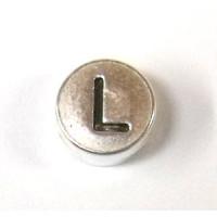 """Metall-Perle """"L"""""""