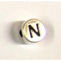 """Metall-Perle """"N"""""""