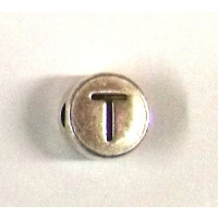 "Metall-Perle ""T"""