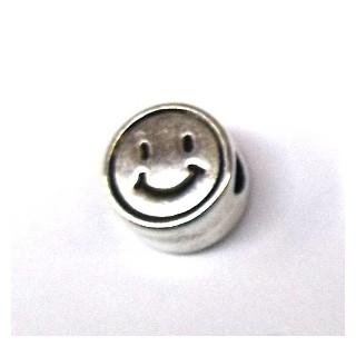 "Metall-Perle ""Smiley"""