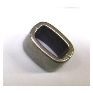 Metall-Verschluss Zierelement, 12mm, Innenø 4x6mm, Teil 2 zu 22-211-22, silber