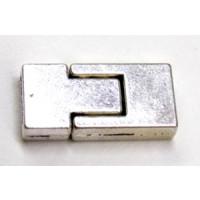 Magnetschließe für Armbänder 10 mm altsilber