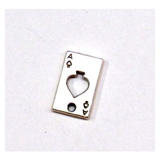 Metall-Zierelement, Ass, 15 mm,Loch ø 1,5 mm, silber