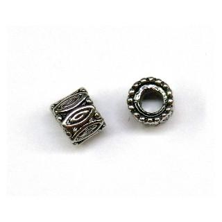 Metall-Walze, ø 8 mm, Großloch ø 3,5 mm, altsilber