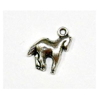 Metall-Anhänger , Pferd, 13 mm, Öse ø 1,5 mm, altsilber