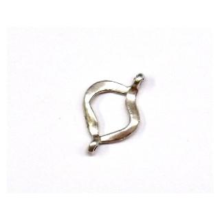 Metall-Zierelement, 19 mm, Öse ø 1 mm, altsilber