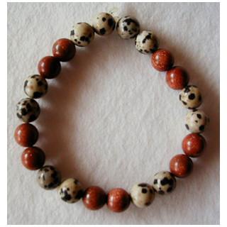 Armband Halbedelsteine getigert m. braun ca. 17cm lang
