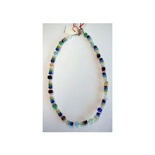 Halskette Glasperlen  bunt 40 cm lang