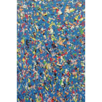 Moosgummi 2mm 20x30 blau/bunt