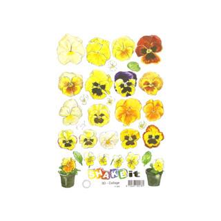 3D Bogen Le Suh A5, Stiefmütterchen gelb