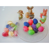 Mini Eier farbig sortiert SB 10 Stck.