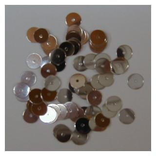 Pailetten 6 mm ca. 9 g Doeschen  silber