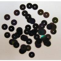 Pailetten 6 mm ca. 9 g Doeschen  schwarz irisierend