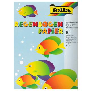 Regenbogenpapier 10 Blatt sortiert 22x32cm