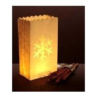 Luminara- Lichtertüte, Schneeflocke groß