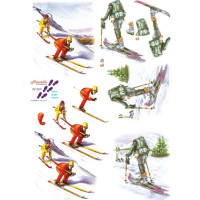 3D Bogen Le Suh A4, Skifahrer