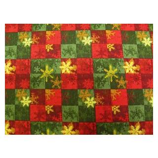 Rot- gruen Christmas  fb. 1140 gemustert