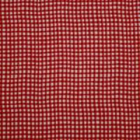 Karo rot/weiss 100% Baumwolle Meterware