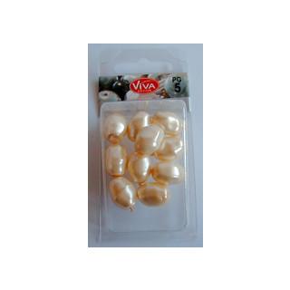 Barock-Perlen creme Knospe 16/13mm