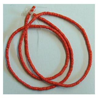 Kokosperlen 4-5 mm ca. 60cm lang orange o. Verschluss
