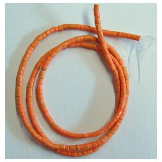 Kokosperlen 4-5 mm ca. 60cm lang o. Verschluss mandarine