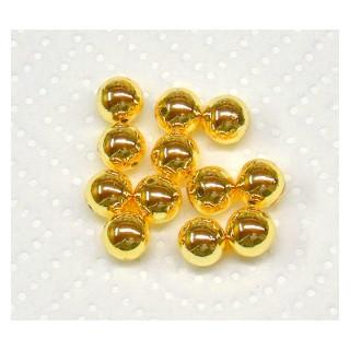 Plastik-Rundperle 10mm fb. 06 gold/Do 22 Stck.