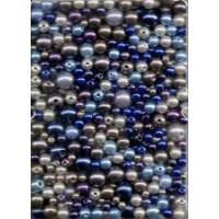 Wachsperlen Mix blau ton 60g SB