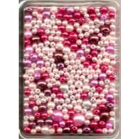 Wachsperlen Mix 60g SB rot ton