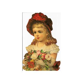 Poesie-Bilder, Mädchen m. Blumen