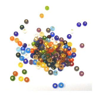 Rocailles Perlen matt 4,5 mm 10 g SB mix