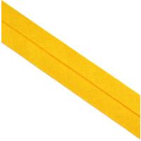 Schrägband gefalzt 100 % Co 40/20 mm gelb