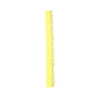 Schrägband Vichy gefalzt mit Spitze gelb