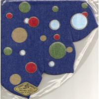 Jap Serviette Exquisit rund blau gepunktet