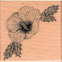 Blume mit Blätter