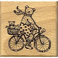 Bär auf Fahrrad