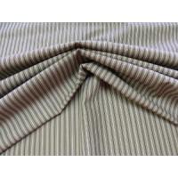 Baumwolle (Mischung) Streifen olivgrün-weiss /...