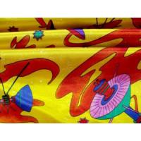 Fasching Baumwolle (Mischung) Kettsatin gelb/bunt /...