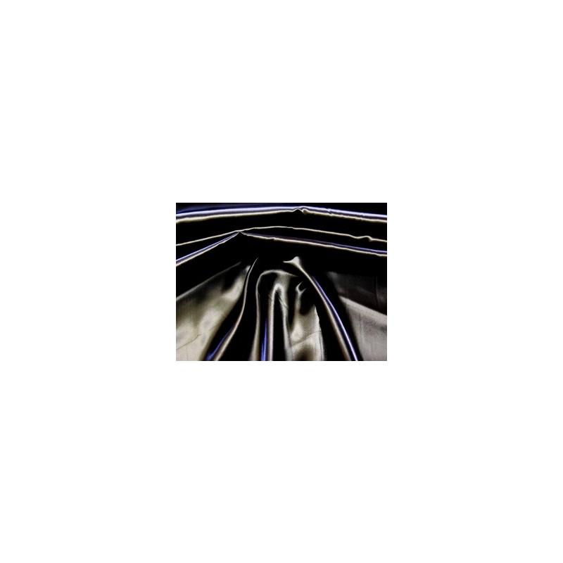 Satin schwarz / Meterware Rest 2 Teile ( 1m u. 20 cm)