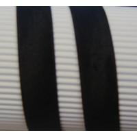 Stretch-Schraegband gefalzt 40/20mm schwarz