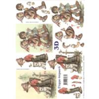 3D Bogen Le Suh A4, Kinder mit Katze